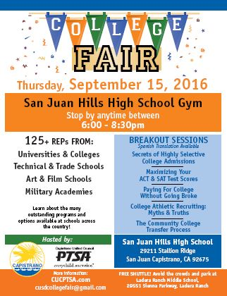 College Fair September 2016